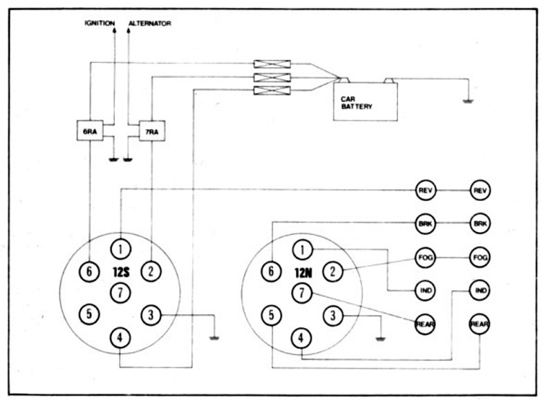 1983connections 100 [ wiring diagram trailer socket uk ] trailer lighting board 12n wiring diagram at edmiracle.co