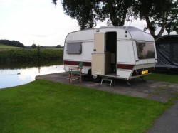 Our Caravan on site at Forfar Loch Caravan and Camping Site